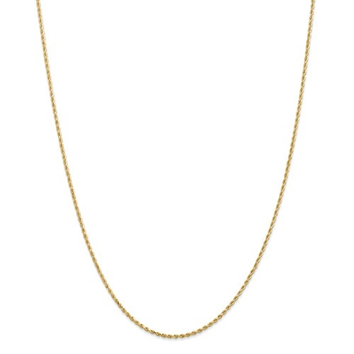 2mm Rope Chain | 14K Yellow Gold | 22 inch