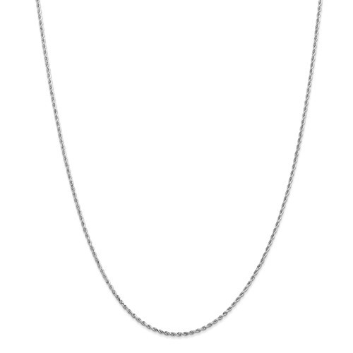 2.25mm Rope Chain | 14K White Gold | 22 inch