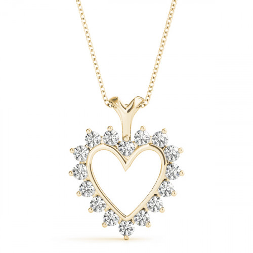 APH8045Y   Heart Pendant   Payroll Jewelry