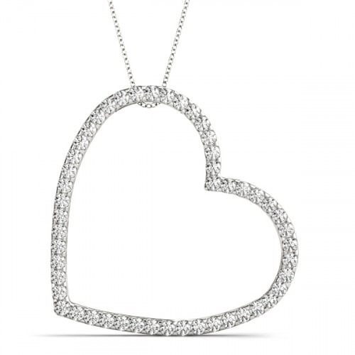 APH30770W-1CT | Heart Pendant. | Payroll Jewelry