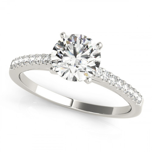 WS50367 | Side Stone Engagement Ring. | Payroll Jewelry