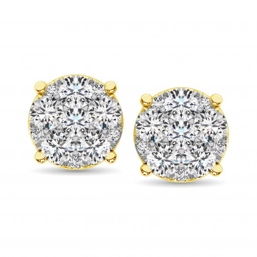 ER61611Y-A3   Cluster Earrings   Payroll Jewelry