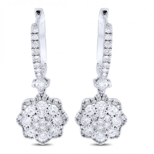 ER100577W | Diamond Hoop Earrings | Payroll Jewelry