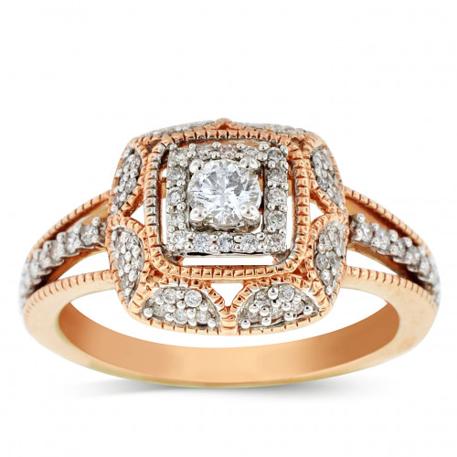 WLR40172P | Halo Ladies Engagement Ring | Payroll Jewelry