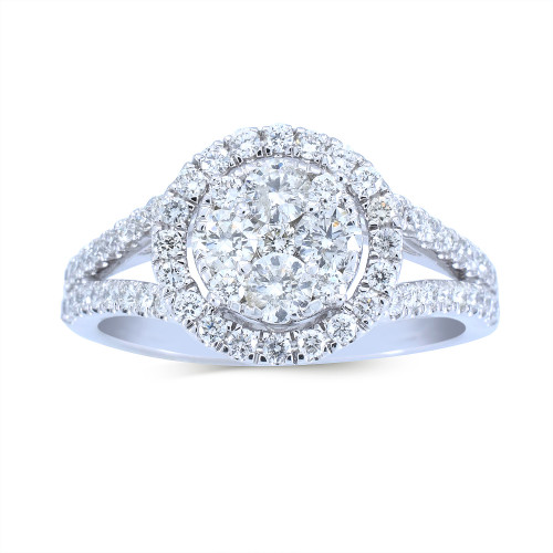 WLR413W | Halo Rings | Payroll Jewelry