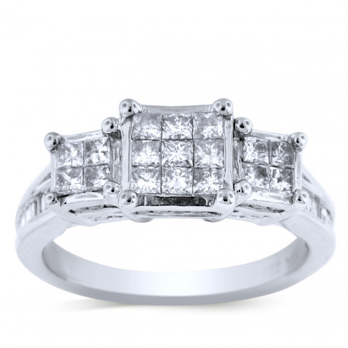 WLR47406W   Three Stone Engagement Ring   Payroll Jewelry
