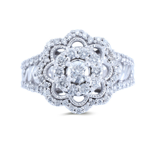 WLR584W | Halo Rings | Payroll Jewelry