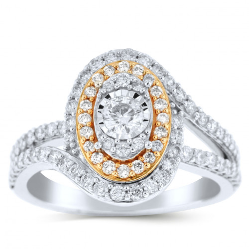 WLR77512PW   Halo Ladies Engagement Ring   Payroll Jewelry