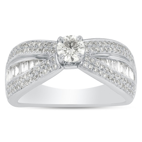 WS116575W | Side Stone Engagement Ring | Payroll Jewelry