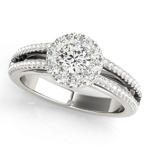 WS50867W   Halo Engagement Ring.   Payroll Jewelry