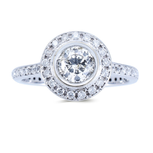 WS737W   Halo Rings   Payroll Jewelry