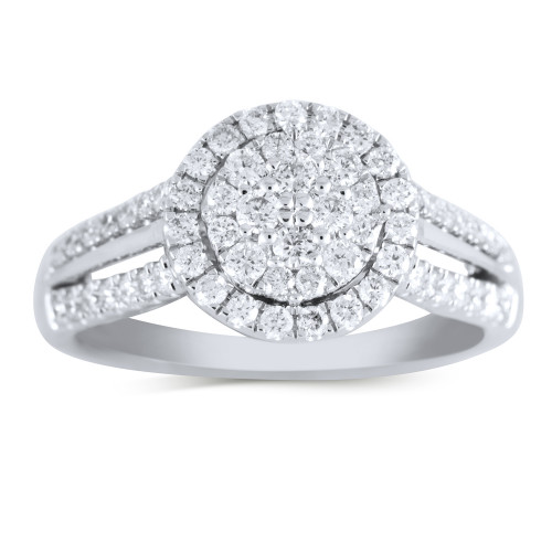 WSF66481W   Halo Ladies Engagement Ring   Payroll Jewelry