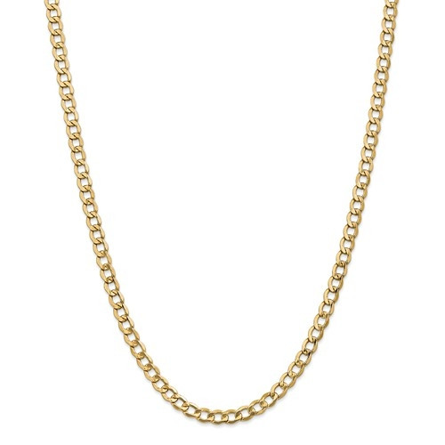 6.5mm Curb Chain   14K Yellow Gold   18 Inch