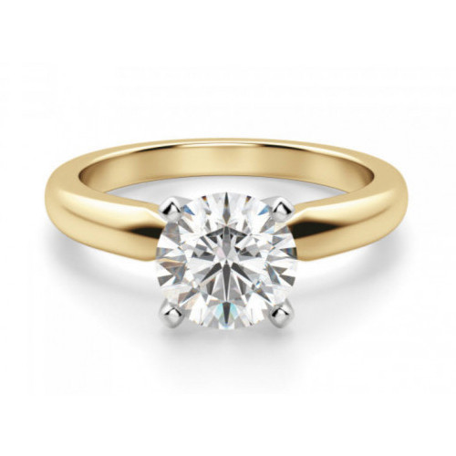 BR460Y   Yellow Gold Solitaire Engagement Ring   Payroll Jewelry