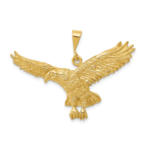 C2435   Gold Eagle Pendant   Payroll Jewelry