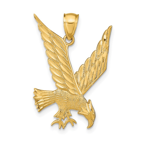 C4037   Gold Eagle Pendant   Payroll Jewelry