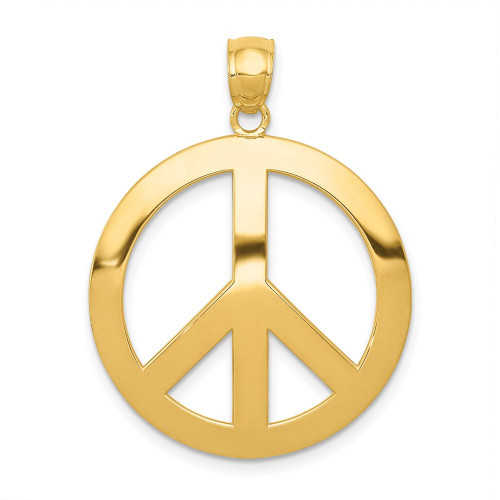 C4171 | Gold Peace Sign Pendant | Payroll Jewelry