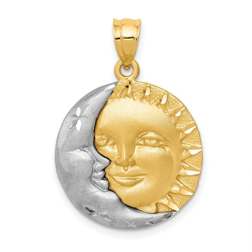 D8 | Gold Sun and Moon Pendant | Payroll Jewelry