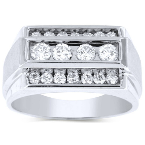 GR18619W | White Gold Mens Ring. | Payroll Jewelry