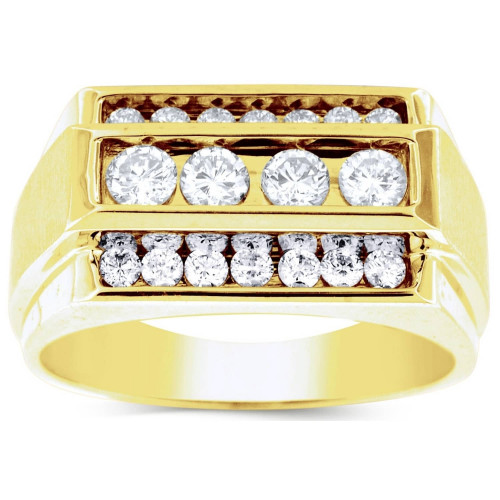 GR18619Y   Yellow Gold Mens Ring.   Payroll Jewelry