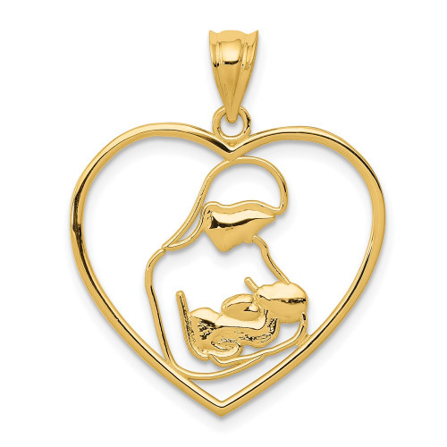 K4088 | Gold Mother and Child Pendant | Payroll Jewelry