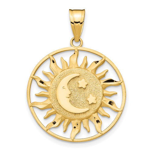 M475 | Gold Sun and Moon Pendant | Payroll Jewelry