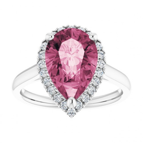WS123449M   Halo Engagement Ring   Payroll Jewelry