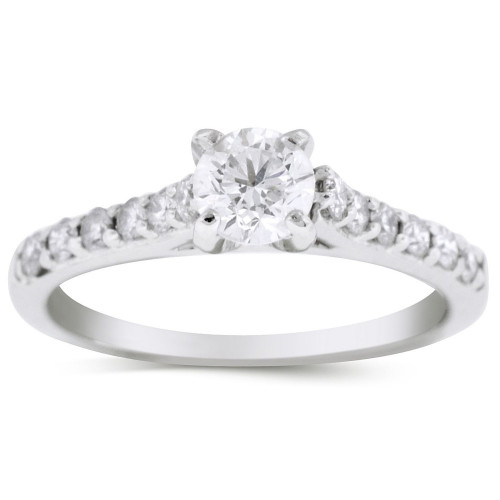 WS18450W   Side Stone Engagement Ring   Payroll Jewelry