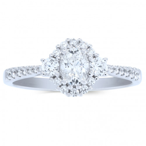 WS26568W | Payroll Jewelry | Halo Engagement Ring