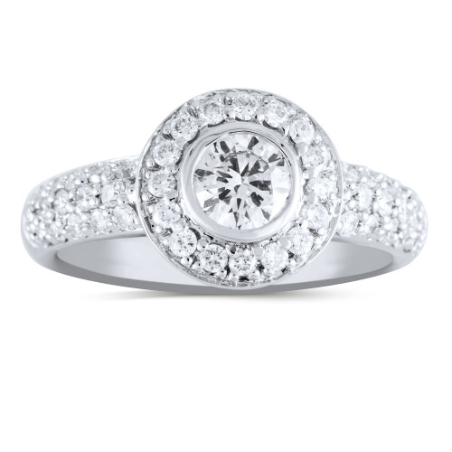 WS47707W   Halo Engagement Ring   Payroll Jewelry