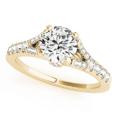 WS50668Y-50 | Yellow Gold Side Stone Engagement Ring. | Payroll Jewelry