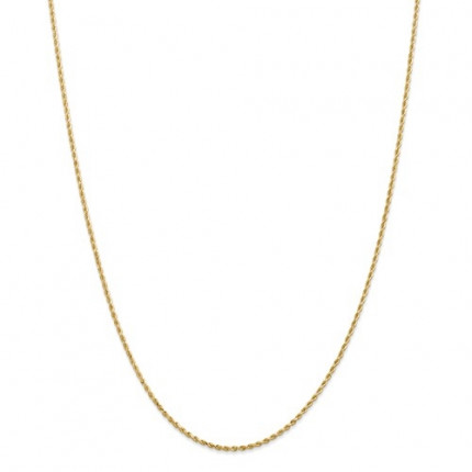 2.25mm Rope Chain | 10K Yellow Gold | 24 Inch