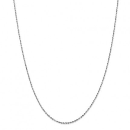 2.25mm Rope Chain | 14K White Gold | 24 inch