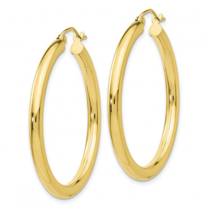 10T935 | Gold Hoop Earrings | Payroll Jewelry-