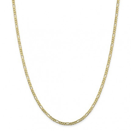 10FG080-24 | Gold Figaro Chain - 24 inch | Payroll Jewelry