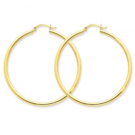 10T927 | Gold Hoop Earrings | Payroll Jewelry