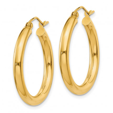 10T937 | Gold Hoop Earrings | Payroll Jewelry