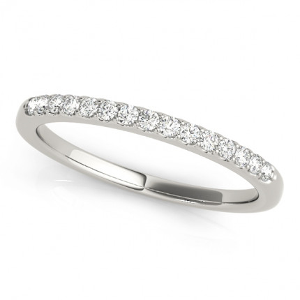 WS50345WB | White Gold Band. | Payroll Jewelry