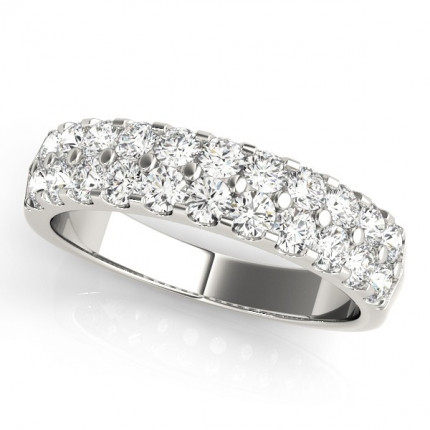 WB50365W-1CT | White Gold Ladies Band. | Payroll Jewelry