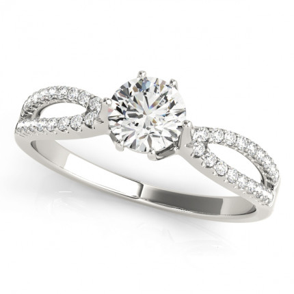 WS50538W | Side Stone Engagement Ring. | Payroll Jewelry