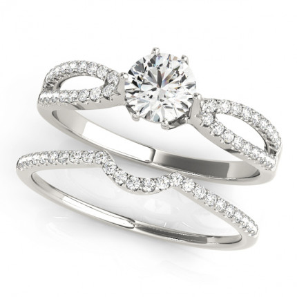 WS50538SET | Side Stone Wedding Set. | Payroll Jewelry
