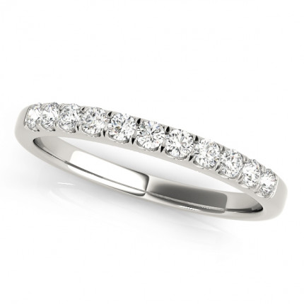 WS50584WB | White Gold Band. | Payroll Jewelry