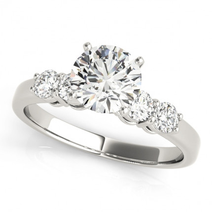 WS50633E10 | Side Stone Engagement Ring. | Payroll Jewelry