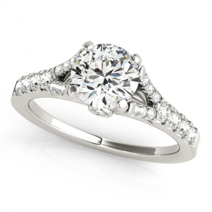 WS50668W | Side Stone Engagement Ring. | Payroll Jewelry