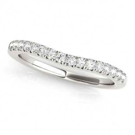 WB50668W | White Gold Band. | Payroll Jewelry