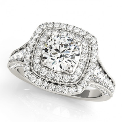 WS50871E | Halo Engagement Ring. | Payroll Jewelry