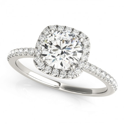 WS50893W-50 | Halo Engagement Ring. | Payroll Jewelry