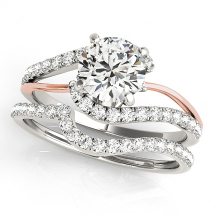 WS50895W | Side Stone Wedding Set. | Payroll Jewelry
