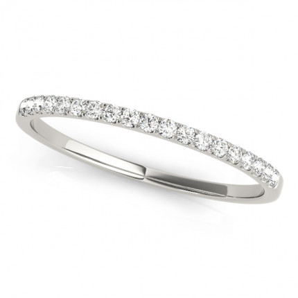WB50917W | White Gold Band. | Payroll Jewelry