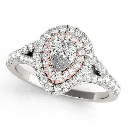 WS50950E | Halo Engagement Ring. | Payroll Jewelry